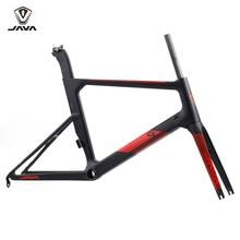 "JAVA Carbon Aero CL Limited Minivelo Frame Fork 20"" 1 1/8"" 451 406 Mini Velo Frameset Seatpost Disc Brake Urban City Bikes Frame"