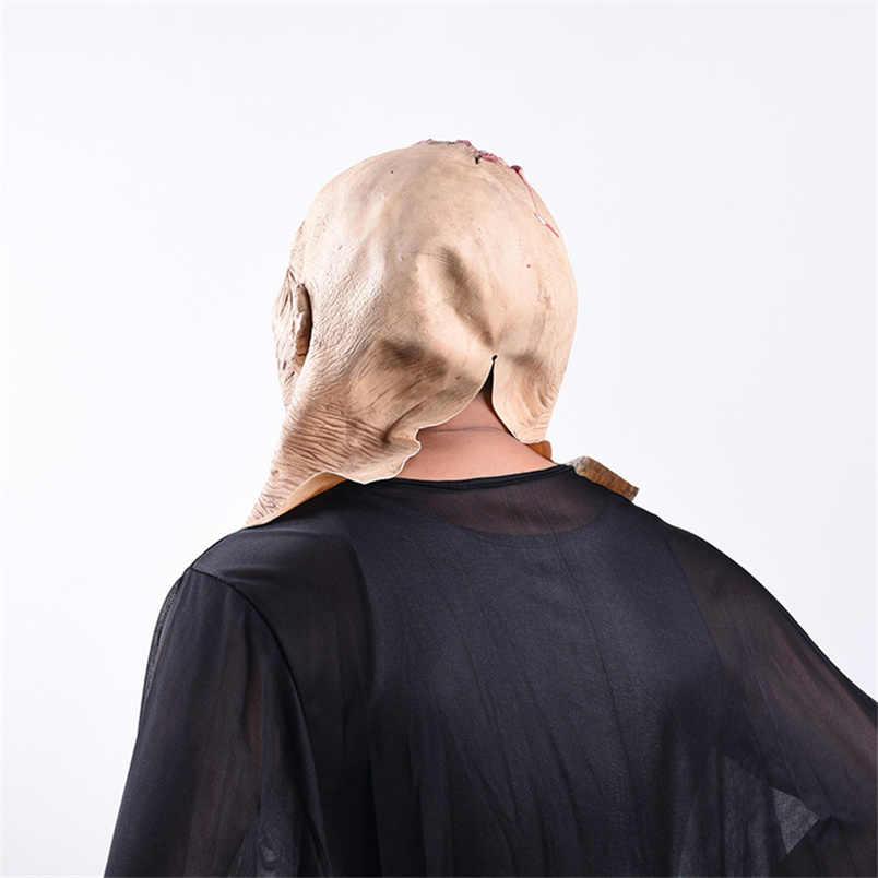Creepy Halloween Oggetti di Scena mascara terrore Spaventare Crosta Sanguinante Maschera di Halloween Rifornimenti Del Partito di Halloween mascara de lattice realista