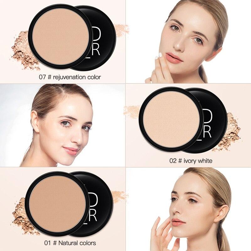 Водостойкая натуральная стойкая косметическая пудра для лица, пудра для макияжа с контролем жирности, 3 цвета, тени для макияжа TSLM1