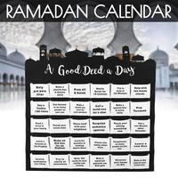30 карманов Адвент календарь сумки Висячие календарь Рамадан оформление календарей мусульманский таймер Kareem календарь для дома