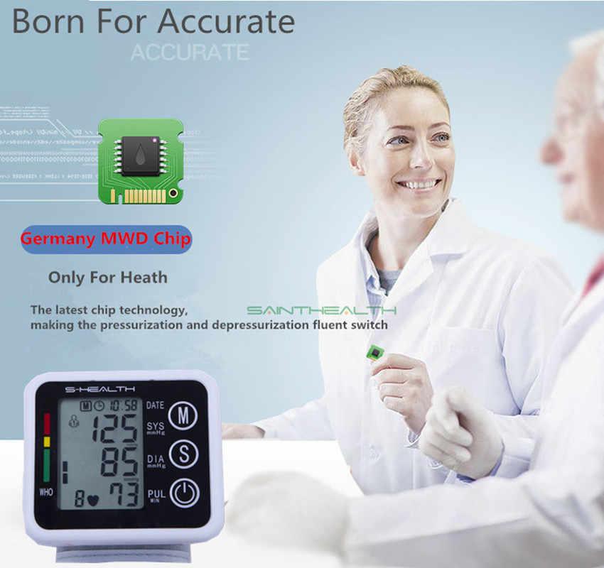 Nowa opieka zdrowotna niemcy Chip automatyczny cyfrowy ciśnieniomierz nadgarstkowy tonometr do pomiaru i puls
