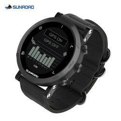 Смарт-часы Sunroad с GPS, пульсометром, альтиметром, барометром, компасом, шагомером, наручные цифровые часы для мужчин для бега и триатлона