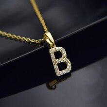 Кубический циркон, алфавит, подвески, золото, серебро, цвет, медь, мини A-Z, буква, подвеска, ожерелье, сверкающее, 26, начальные ожерелья, ювелирные изделия