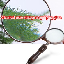 fghgf 17136 cylindrical 10x eye mask magnifying glass portable jewelry identification reading magnifier 70mm 10X Map Inspection Wood Handle Handheld Magnifying Glass For Reading Antique Portable Books Elder Magnifier