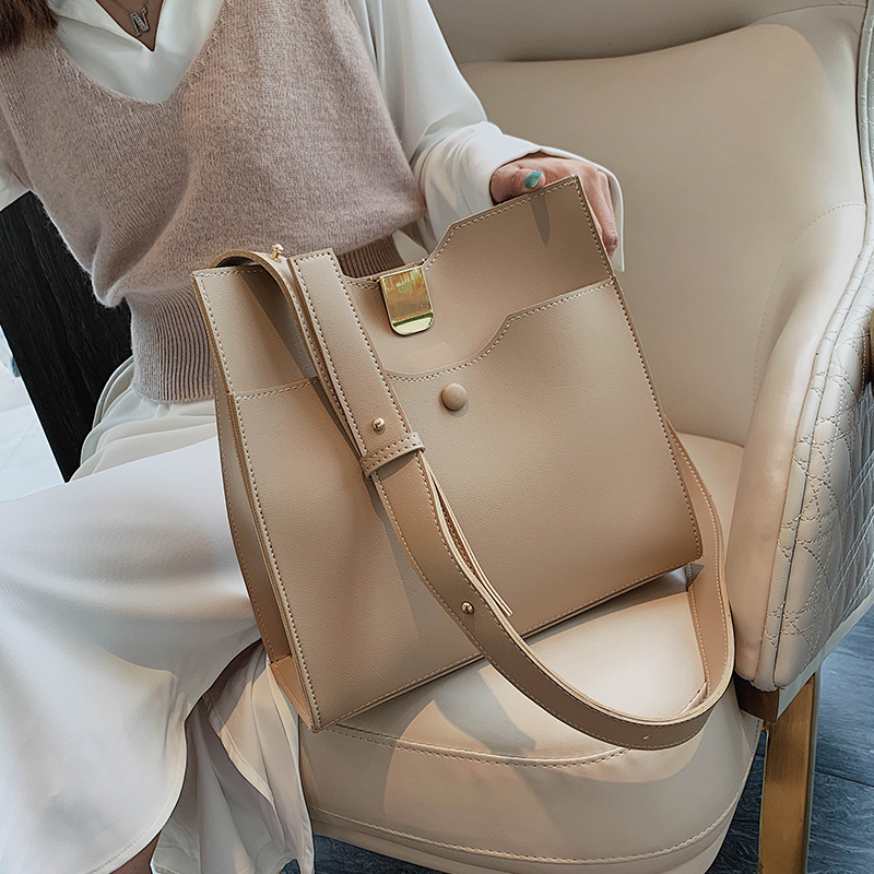 Casual Pu Crossbody Bag Composit Fashion Large Capacity Buckets Women Handbags Chic Shoulder Bags Lady Totes