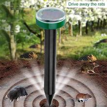 2PCS Outdoor Solar Ultrasonic Pest Repeller  For Household Garden Mole Repellent Snake Bird Mosquito Mouse Control Garden Yard