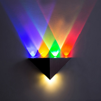 Bedroom Decoration Wall Light 5W Cross-border LED Triangular Corridor Lamp RGB KTV Background LED Wall Lamps for Living Room