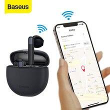 Baseus W2 TWS bezprzewodowe słuchawki Bluetooth gamingowy zestaw słuchawkowy ENC redukcja szumów słuchawki wodoodporne z aplikacją funkcja GPS