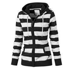 40@ Women Ladies Zipper Tops Hoodie Hooded Sweatshirt Coat Jacket Casual Long Sleeve Sweatshirt Slim Veste Femme Куртка Женская