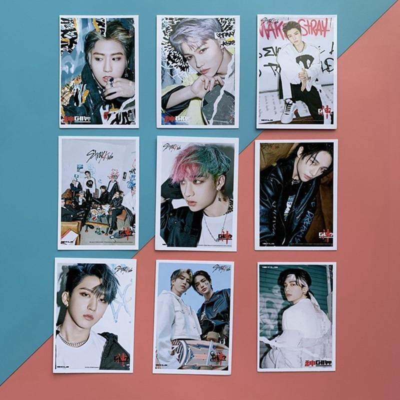 16PCS Set Kpop Stray Kids Photo Cards New Album GO LIVE LOMO Card Photocard Self Made
