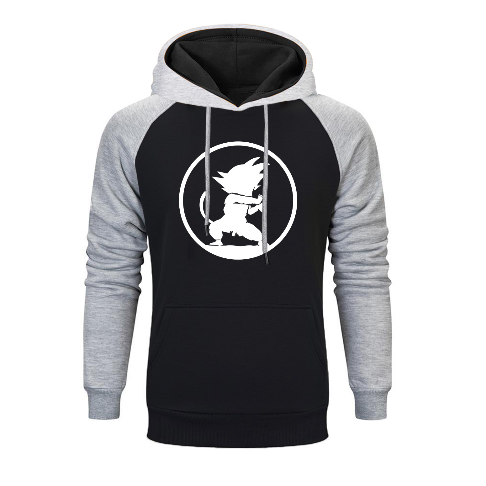 Japanese Anime Dragon Ball Raglan Hoodie Men Fashion Streetwear Print Hoodie Casual Winter Hip Hop Hoodie Sweatshirt Sportswear