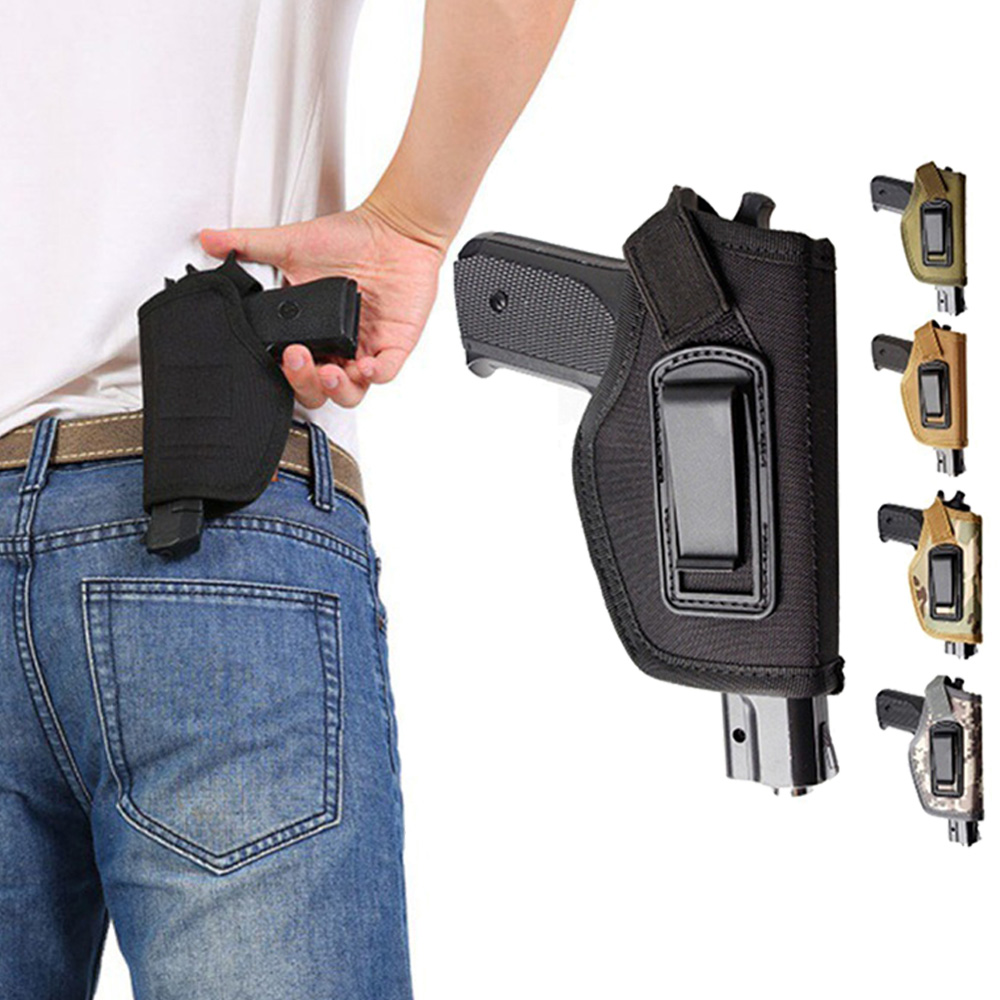 Tactical Compact Subcompact Pistol Holster Waist Case Glock Gun Bag Hunting Accessory Outdoor CS Field Invisible Protect Holster