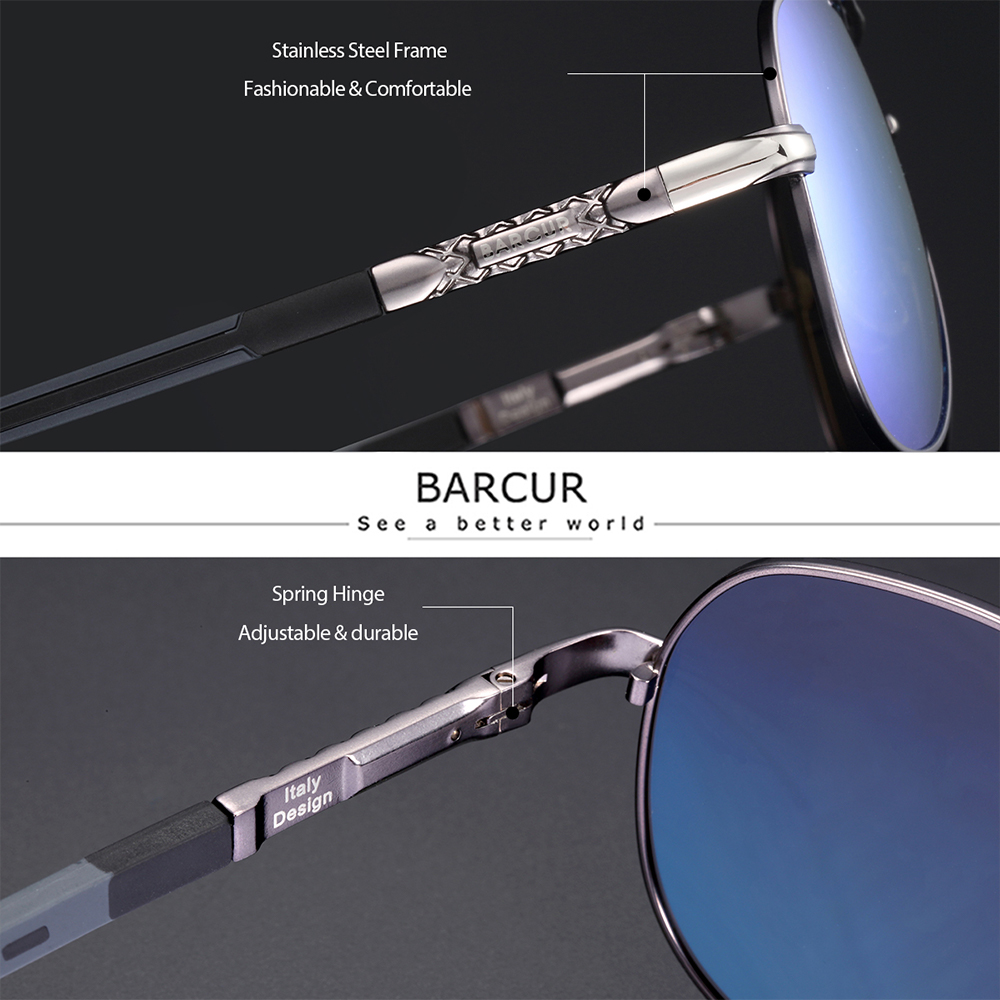 BARCUR  Polarized UV400 Men's sunglasses 2