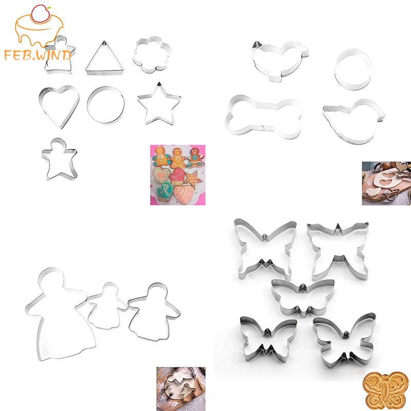 Easter Cookie Cutter Biscuits Mold 3D Shape Egg Chicken Bunny Molds Cutters Set