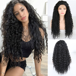 Charisma Black Wig Kinky Curly Wigs with Baby Hair Synthetic Lace Front Wig Heat Resistant Fiber Hair Daily Wigs for Black Women