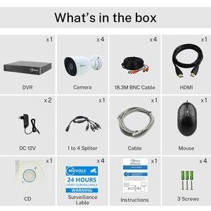 Image 2 - MOVOLS H.265 מעקב וידאו מערכת 5MP HD H.265 DVR 4PCS CCTV מצלמה ראיית לילה עמיד למים אבטחת מצלמה מערכת ערכת