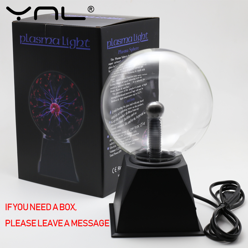 Novelty Glass Magic Plasma Ball Light Electric Lamp 220V 3 4 5 6 Inch Night Light Kids Gift Birthday Christmas Decor Plasma Lamp 6