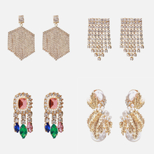 Ztech New ZA Clear Crystal Drop Earrings For Women Wedding Fashion Girls Party Gift Dangle Trendy Statement Jewelry