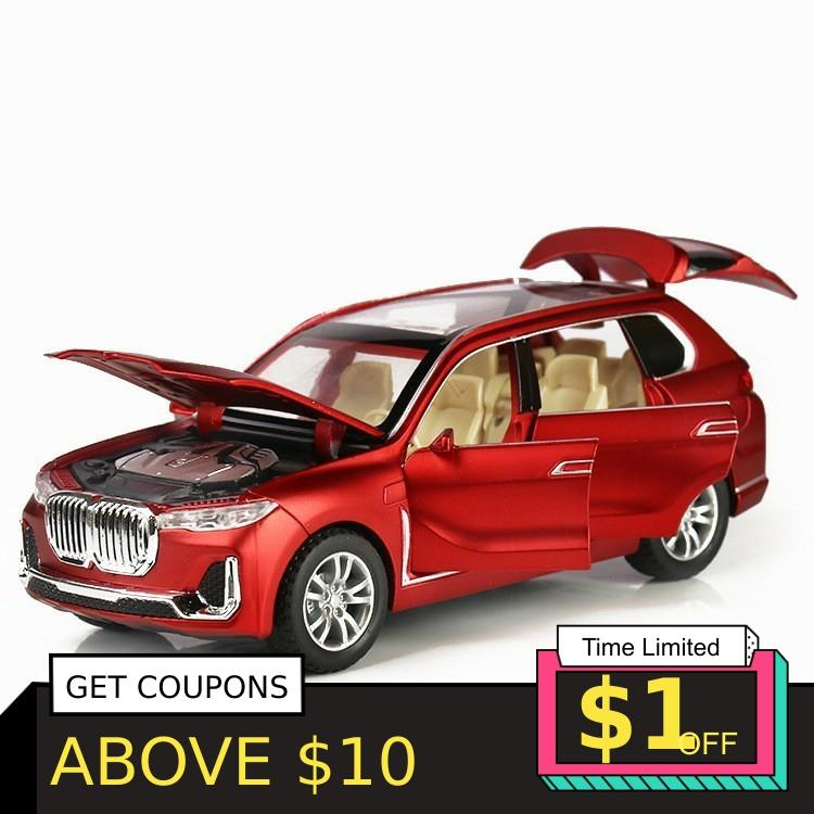 1:32 X7 Simulation Alloy Toy Cars Diecast X7 Pull Back SUV Car Model Children Toys Off-road Vehicles Baking Cake Decorations