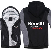 Benelli TRK 502X hoodies Cartoon Jacke Verdicken Hoody Zipper Winter Fleece Benelli TRK 502X Sweatshirt(China)