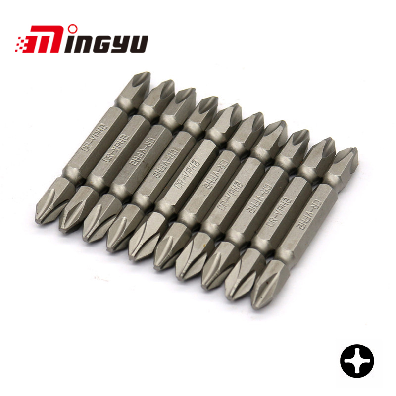 10pcs 65mm Length Long Bit Set 1/4