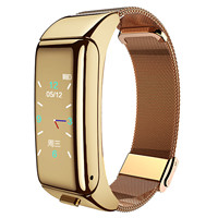 Reloj inteligente 2 en 1 para hombre y mujer, pulsera con auriculares B6, Bluetooth, manos libres, multifunción, novedad