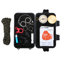 Lixada 13pcs Outdoor Survival Kit Emergency Tools Survival Gear Kit for Fishing Camping Hiking Travelling Adventures Multi Tools|Safety & Survival|Sports & Entertainment -