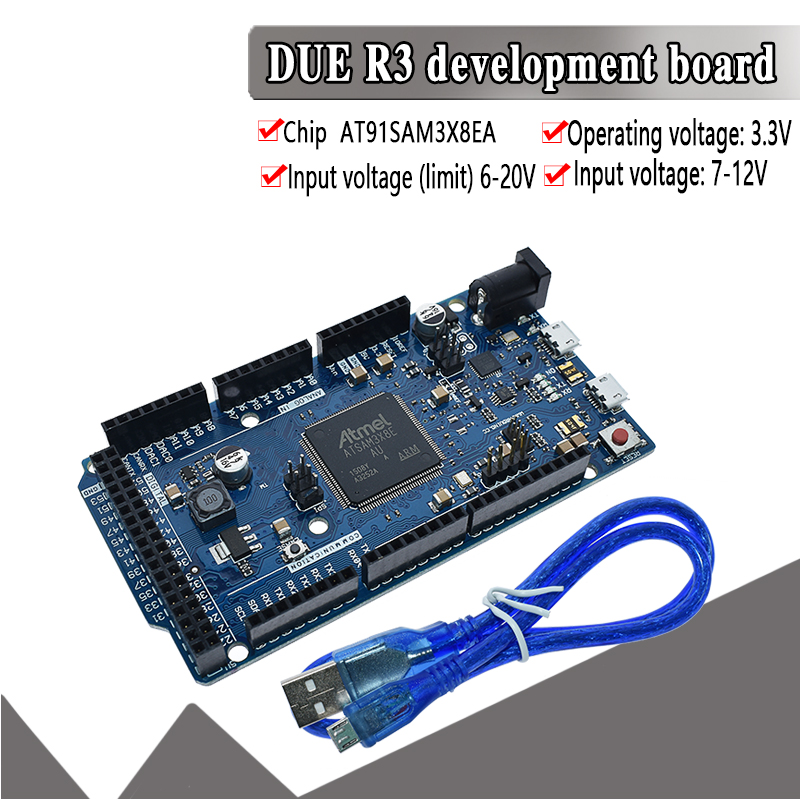 Official DUE R3 Board AT91SAM3X8E SAM3X8E 32-bit ARM Cortex-M3 Control Board Module For Arduino Development Board