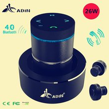 Adin 26w portátil metal vibração alto-falante bluetooth ressonância toque estéreo baixo vibração subwoofer sem fio microfone alto-falantes de telefone