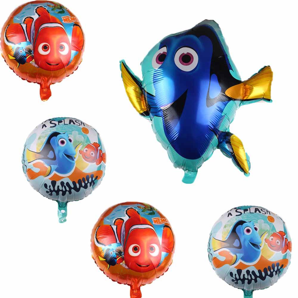 1 шт. 78*73 см с изображениями из мультфильма «В поисках Немо милый рыба плоскодонка Фольга воздушные шары Детские игрушки море океан воздушны...