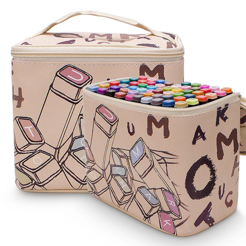 Marqueurs de croquis Double tête 60 80 couleurs marqueurs à base d'alcool fournitures d'art professionnel pour artiste scolaire stylos de couleur pour la peinture