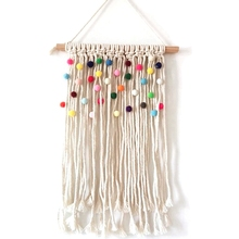 Colorful Macrame Tapestry Wall Nursery Decor Kids Room Hanging Decoration Bohemian Tapestries Backdrop Handmde Wall Art large macrame tapestry macrame wall hanging farmhouse decor makramee room decoration tapestry wall gift for women