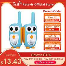 2 قطعة Retevis RT30 اسلكية تخاطب الاطفال 2 قطعة الكرتون البومة تصميم راديو الأطفال 0.5 واط 1 قناة اسلكية تخاطب عيد ميلاد هدية الكريسماس