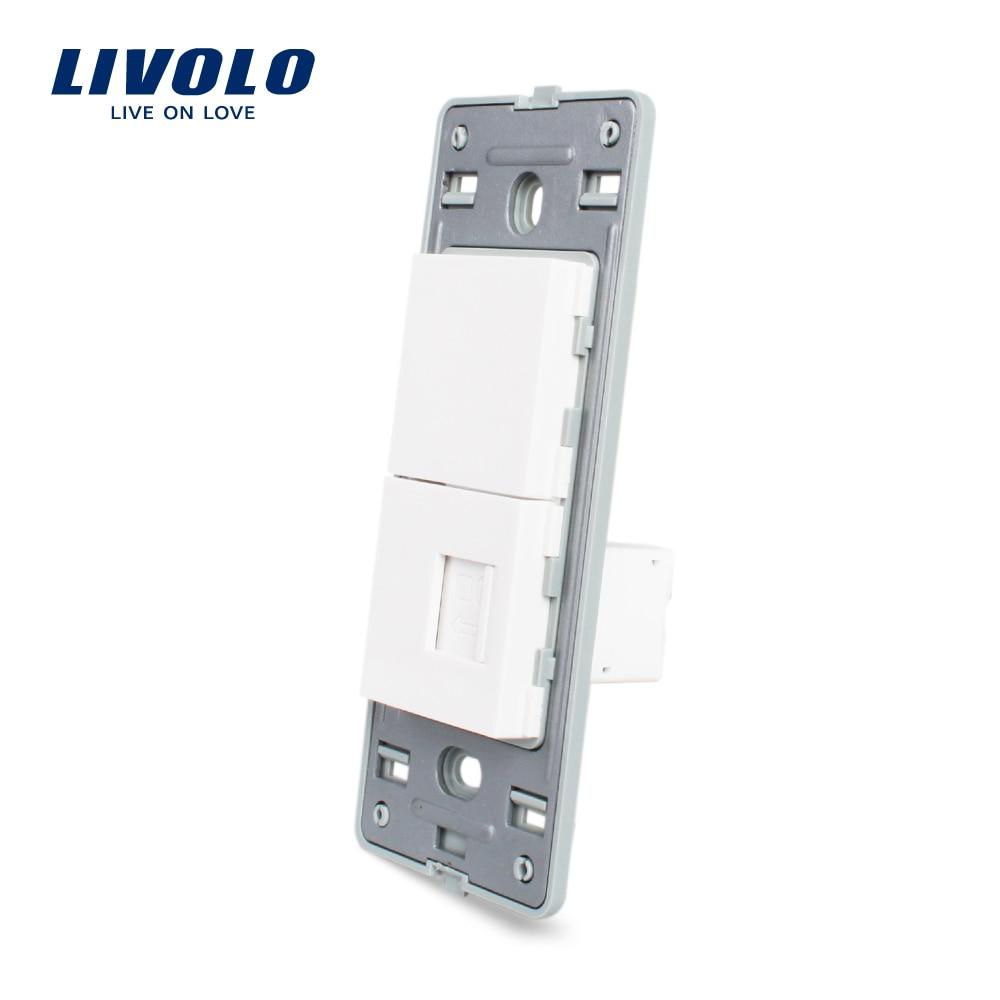 Livolo US Standard Socket DIY Parts,White Plastic Materials,Function Key For US  Wall Socket,com,tele,hdmi,usb Sockets,wall Plug