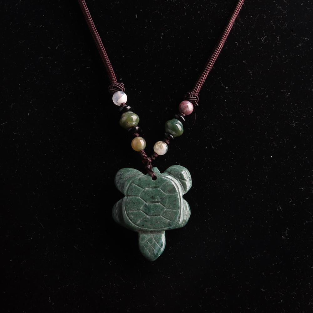 3PC Hand Knotter String carving tortoise stone necklace quartz Natural Stone Beads Energy Women Necklace Women jewelry wholesale