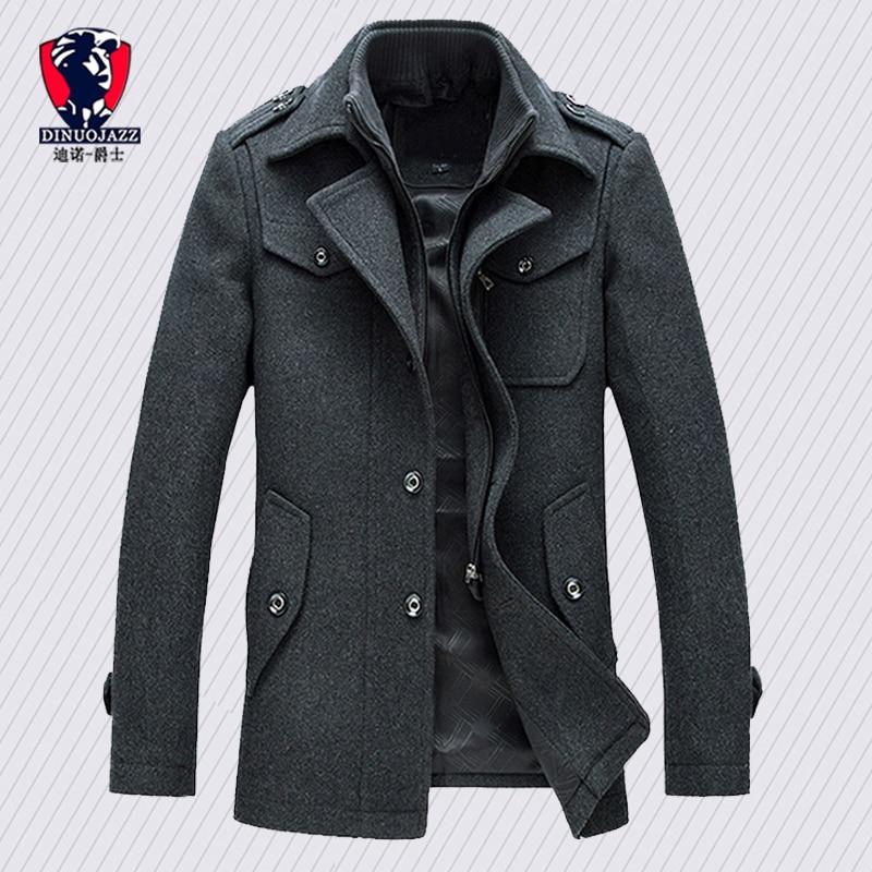 Winter Trench Coat For Men Fashion Mens Jackets Version Of Woolen Men's Jacket Double Collarwarm Woolen Coat PP255100