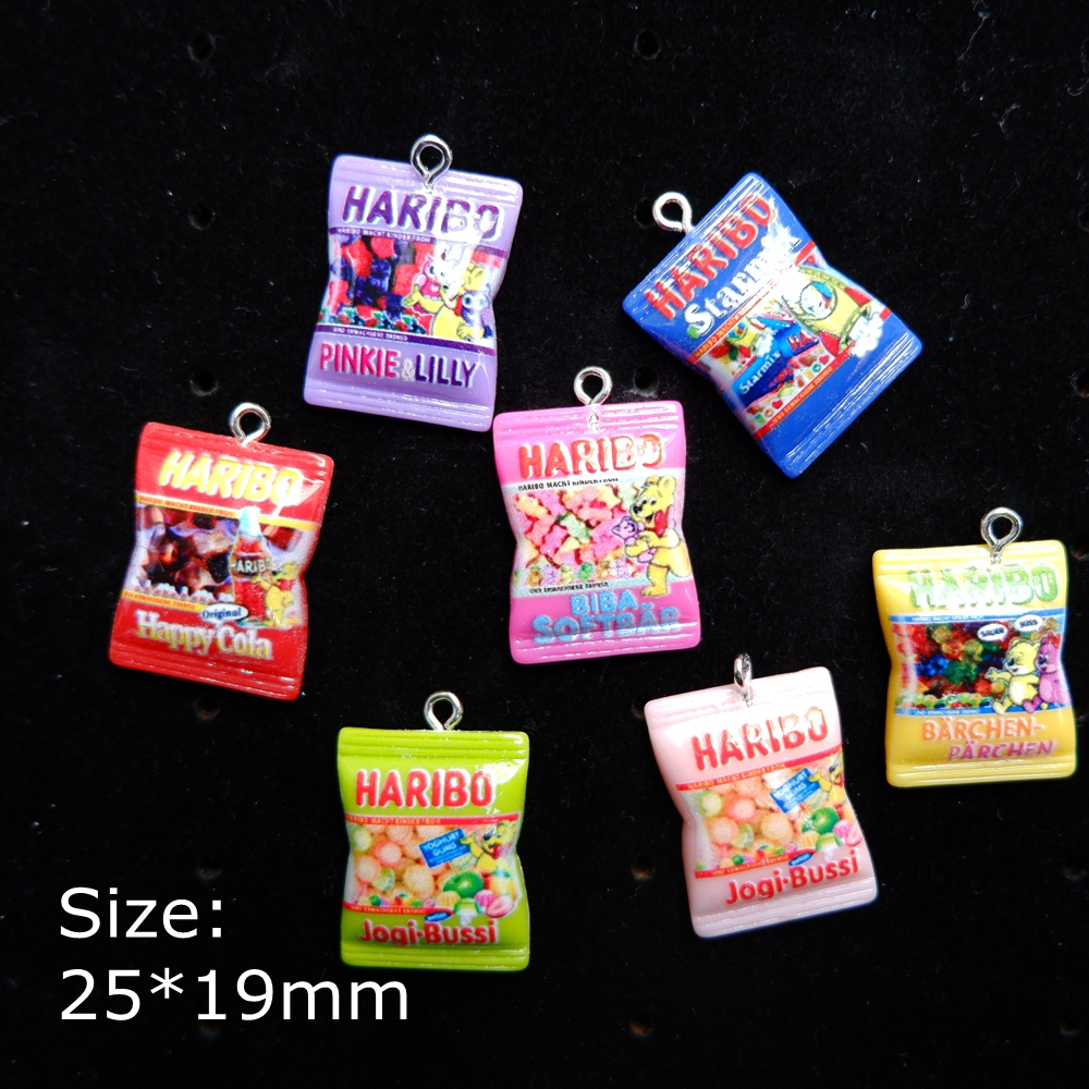 Charms-Pendants Keyring Jewelry Necklace Cabochon Making-Accessories Flat-Back-Resin title=