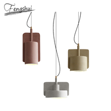 купить Modern LED Pendant Lights Lamp Cement Pendant Lighting Living Room Cafe Dining Room Bar Bedside Bedroom Loft Decor Hanging Lamp по цене 4682.28 рублей