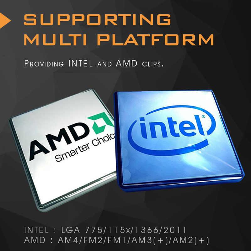 Aigo obudowa PC wentylator chłodnica wodna wentylator procesora 120MM T120/240 Radiator chłodzący na wodę zintegrowany chłodnica chłodząca LGA 115X/2011/AM4