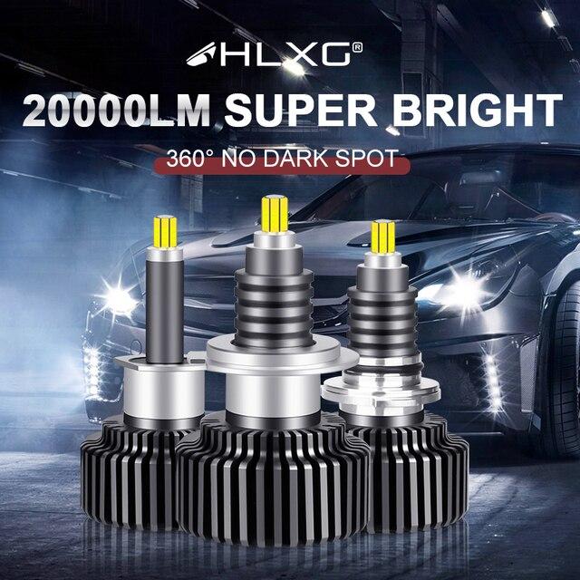 hlxg 120W 9012 HIR2 Fog Lights H11 H1 H8 H9 H7 LED Headlight hb4 hb3 9005 9006 12V 6000K 72 CSP Turbo Car Auto Headlamp Bulbs