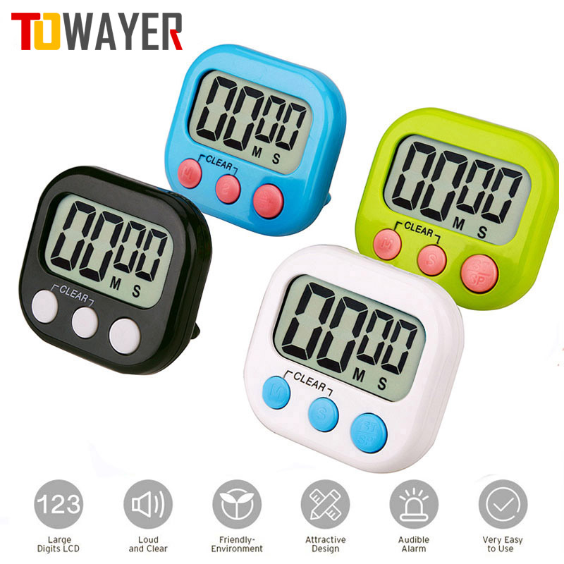 Kitchen Timer Alarm Lcd-Display Backing-Stand Magnetic Sports-Games Digital Large