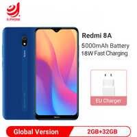 """Globalna wersja Xiaomi Redmi 8A 8 A 2GB 32GB 6.22 """"Snapdargon 439 octa core telefon komórkowy 5000mAh 12MP aparat Smartphone"""