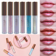 NIEUWE Mollige Vloeibare Crystal Glow Lipgloss Laser Holografische Lippen Tattoo Lipstick 3D Make Mermaid Pigment Glitter Lipgloss(China)