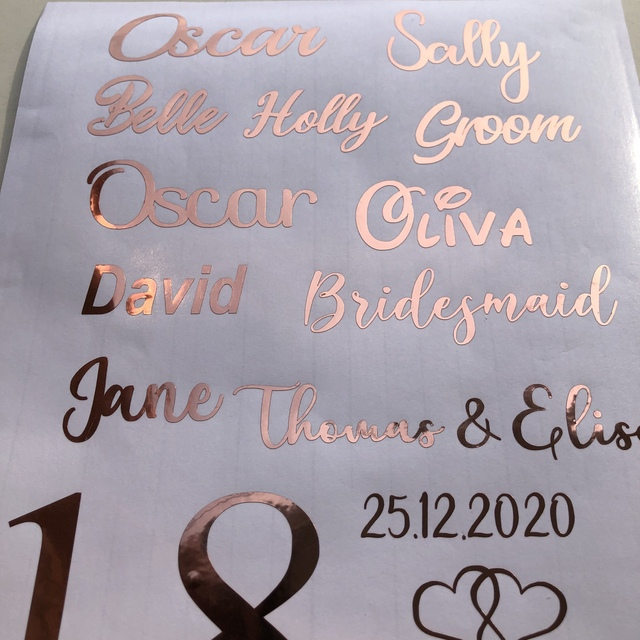 Personalised Name for a bauble  Sticker Custom Decal Transfer