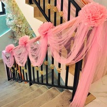Hot sale 48CMx5M Tulle Roll Crystal Fabric Organza Tulle Roll Spool Wedding Decoration Birthday Party Kids Baby Shower 5ZSH015