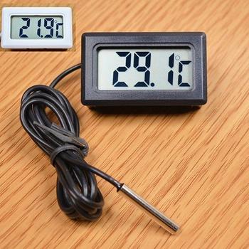 LCD cyfrowy sonda termometru lodówka termometr do zamrażarki termometr do lodówki-50 ~ 110 stopni tanie i dobre opinie Gospodarstw domowych termometry Z tworzywa sztucznego Lodówka termometry Refrigerator Meter Household Thermometers piece