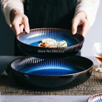 Nordic ceramiczny zachodni talerz głęboki okrągły talerz zupy talerz kreatywny pieczenia ryż talerz talerz sałatkowy duży dom tanie i dobre opinie CN (pochodzenie) Podszkliwna CE UE Lfgb JEDNA Ceramic Plate Ekologiczne Porcelany Stałe 1l