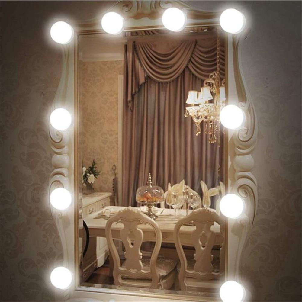 LED Mirror Lamp Wall Light 12V Makeup Lamp Bulbs Kit USB For Dressing Table Stepless Dimmable Hollywood Vanity Bath Light