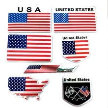 Automóvel motocicleta exterior acessórios grandes país estados unidos da américa eua bandeira nacional liga de alumínio carro adesivos