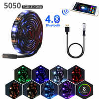 bluetooth wifi led strip light rgb tape usb 5v for TV LED lights pc backlight lamp waterproof ruban tiras smd 5050 flexible neon